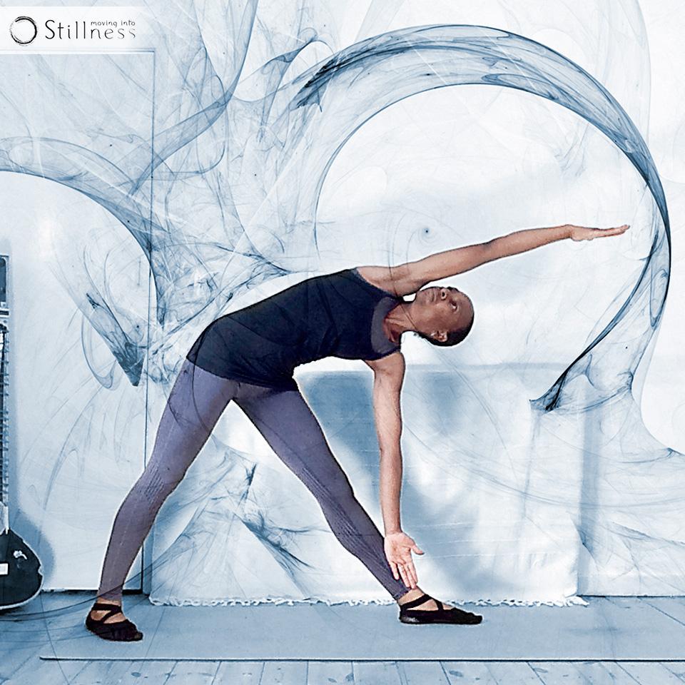 Moving Into Stillness Trikonasana variation 1