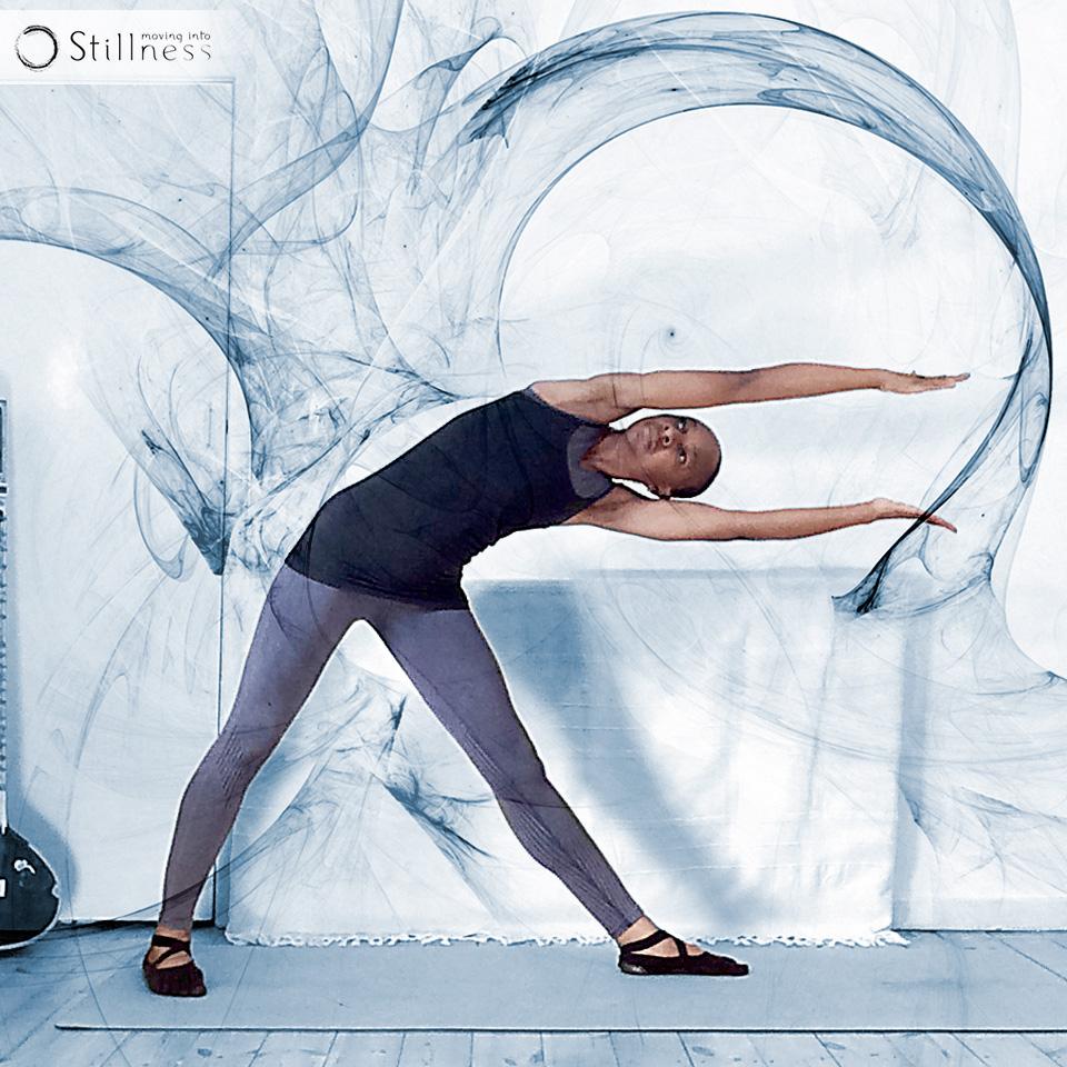 Moving Into Stillness Trikonasana variation 2