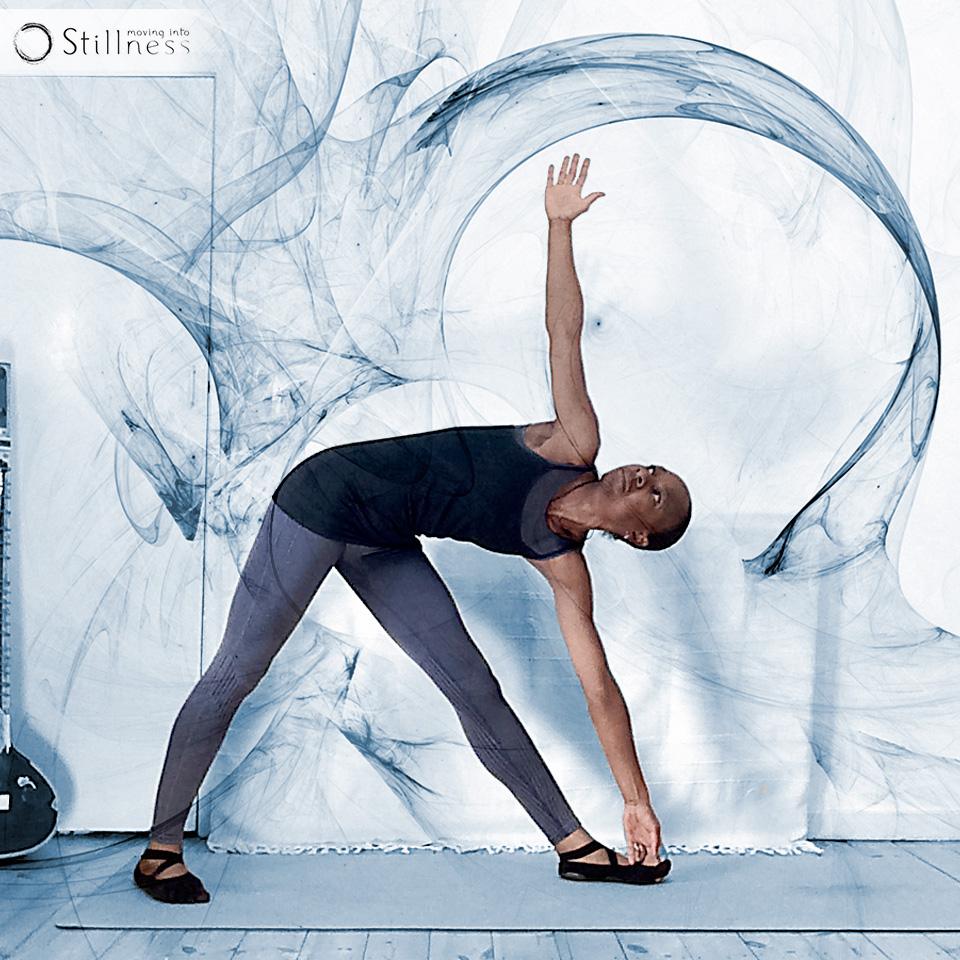 Moving Into Stillness Trikonasana variation 3