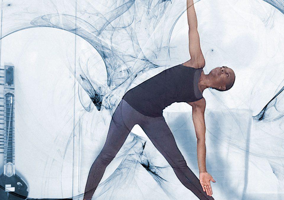 moving into stillness posture focus: trikonasana (triangle)